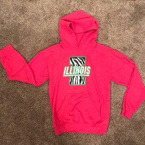 Gildan Pink Illinois hoodie